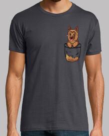 pocket cute german shepherd - mens shirt