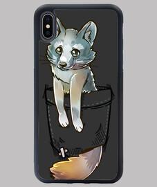 Pocket Cute Grey Fox - iPhone Case