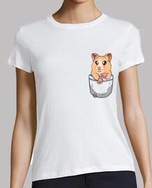 Pocket Cute Hamster Pet - Womans shirt