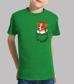 pocket cute jack russell terrier - kids shirt