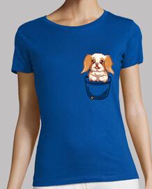 Pocket Cute Japanese Chin Dog - Womans shirt