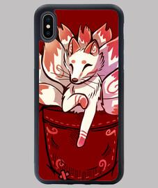 pocket cute kitsune fox - funda para iphone