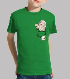 pocket cute komondor dog - chemise enfant