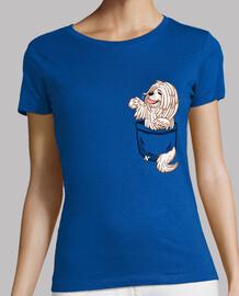 Pocket Cute Komondor Dog - Womans shirt
