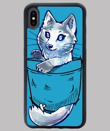 pocket cute marble fox - funda para iphone