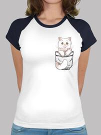 pocket cute persian cat - womans baseball