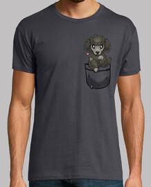 pocket cute poodle dog - mens shirt