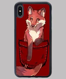 Pocket Cute Red Fox - iPhone Case