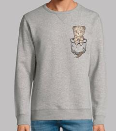 Pocket Cute Scottish Fold - Sweatshirt