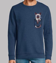 Pocket Cute Siamese Cat - Sweatshirt