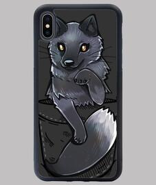 Pocket Cute Silver Fox - iPhone Case