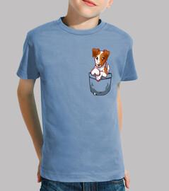 Pocket Cute Smooth Fox Terrier Hound - Kids shirt