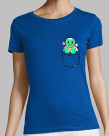pocket cute turtle - womans shirt
