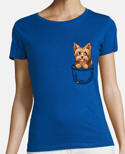 Pocket Cute Yorkie Yorkshire Puppy - Womans shirt