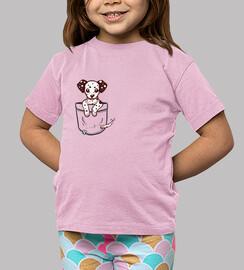pocket dalmation puppy - kids shirt