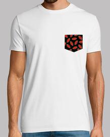 Pocket Fruta Sandia Verano - Veranito Hombre, manga corta, blanco, calidad extra
