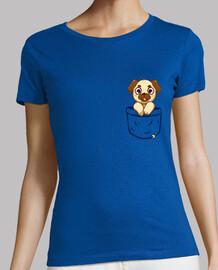 pocket pug - womans shirt