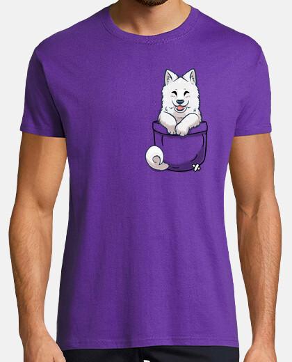pocket samoyed - mens shirt