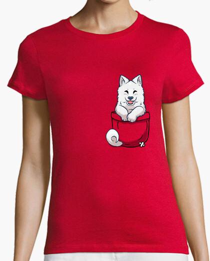 Pocket Samoyed - Womans shirt t-shirt