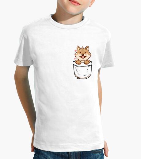 Vêtements enfant pocket shiba inu - chemise pour enfants