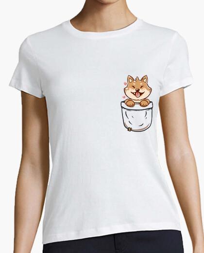 Tee-shirt pocket shiba inu - chemise pour femme