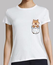 pocket shiba inu - chemise pour femme