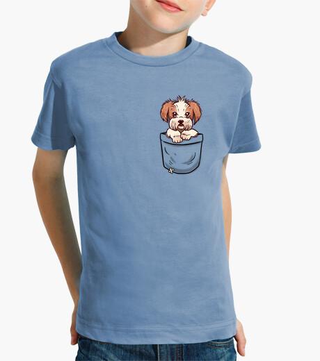 Pocket shih tzu - kids shirt children's clothes
