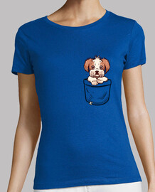 pocket shih tzu - womans shirt