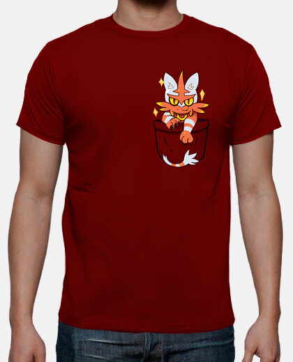 Pocket Shiny Torracat - Mens shirt