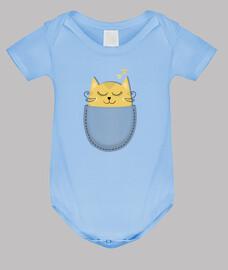 pocket sleeping kitten