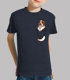 pocket st bernard - maglietta per bambini