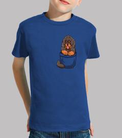 pocket tibetan mastiff puppy - kids shirt