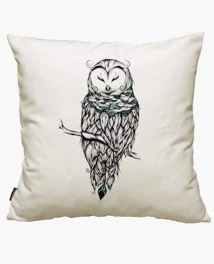 Funda cojín Poetic Snow Owl