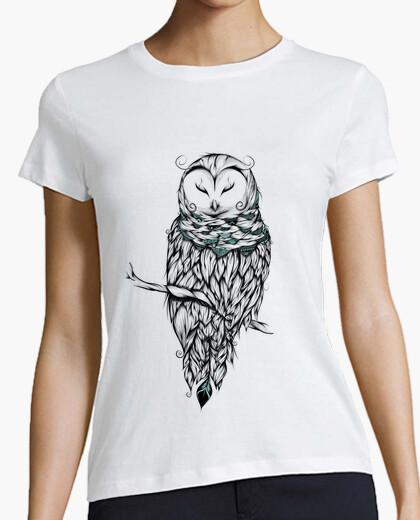 T-shirt poetica civetta delle nevi