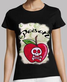 Poison- Mujer, manga corta, negra, calidad premium