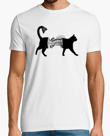Tee-shirt poisson-chat