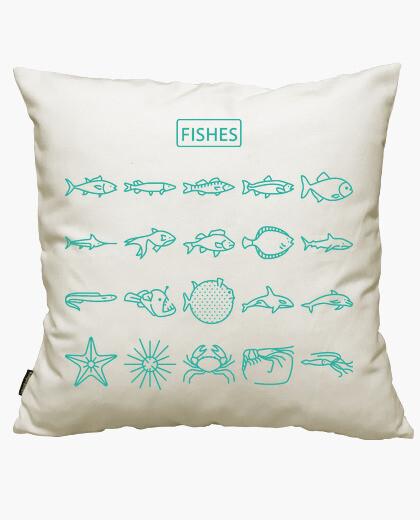 Housse de coussin poissons