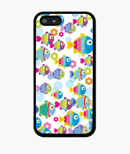 Coque iPhone poissons colorés