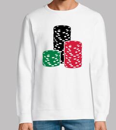 Poker-Roulette-Chips die spielen