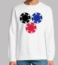 Pokerchips die spielen