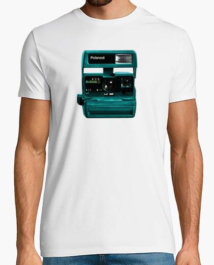 Camiseta polaroid azul