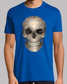 polígono skull camiseta, azul real, de calidad superior