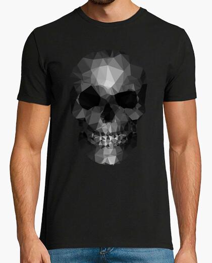 Camiseta polígonos cráneo gris