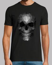 polígonos cráneo gris