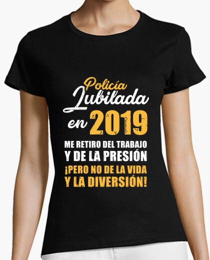 T-shirt polizia in pensione nel 2019