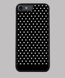 Polka dot black and white