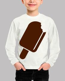 polo de helado de chocolate