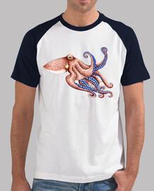 polpo blu t-shirt