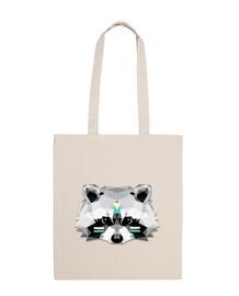 Poly boho raccoon
