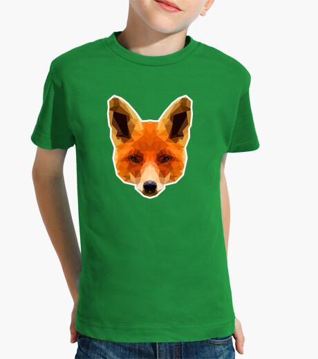 Polygonal fox network children's clothes